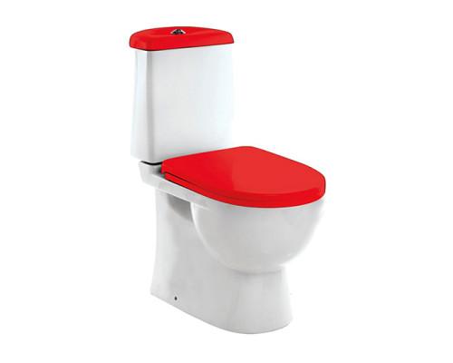 Sanita Luxe Бест красный унитаз с микролифтом